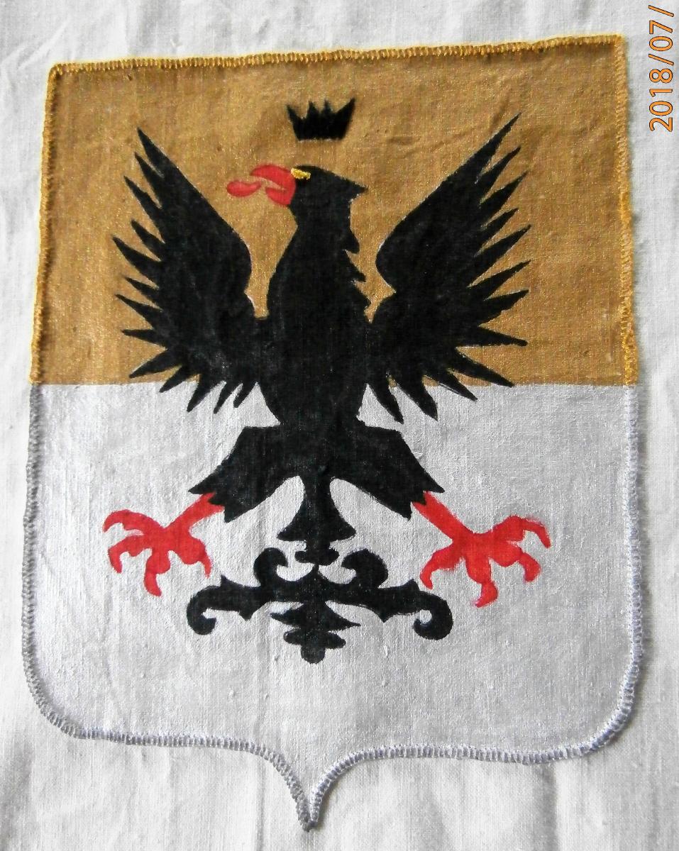 Stemma  Ammiragli Doria, tecnica mista pittura e ricamo