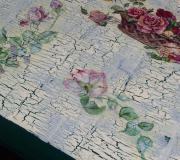 Tavolo da giardino tecnica decoupage-  particolare