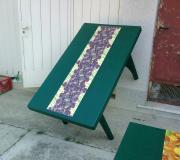Tavolo da giardino tecnica decoupage